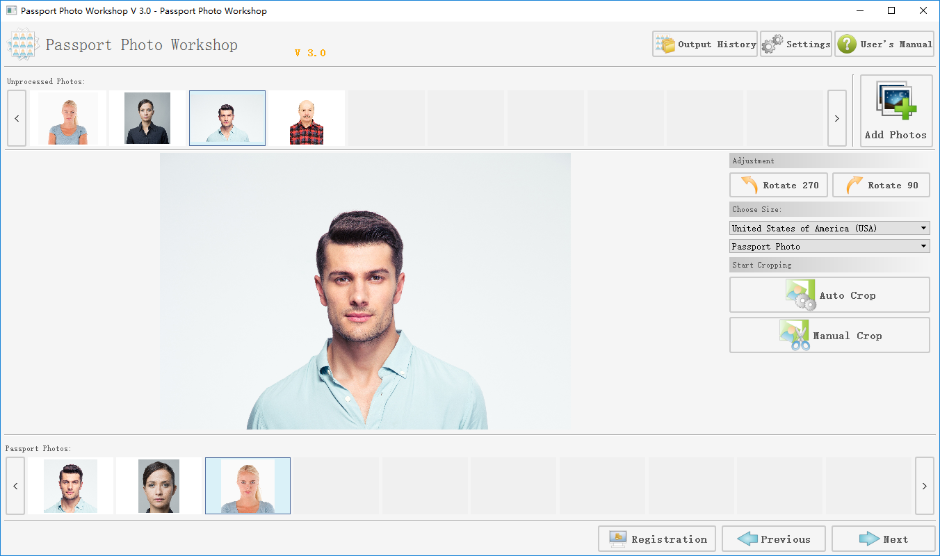 With Passport Photo Software Pro, you will be able to create all kinds of passport photos, visa photos in minutes with just a few clicks! Passport Photo Software Pro is an professional passport photo maker for home and business users.