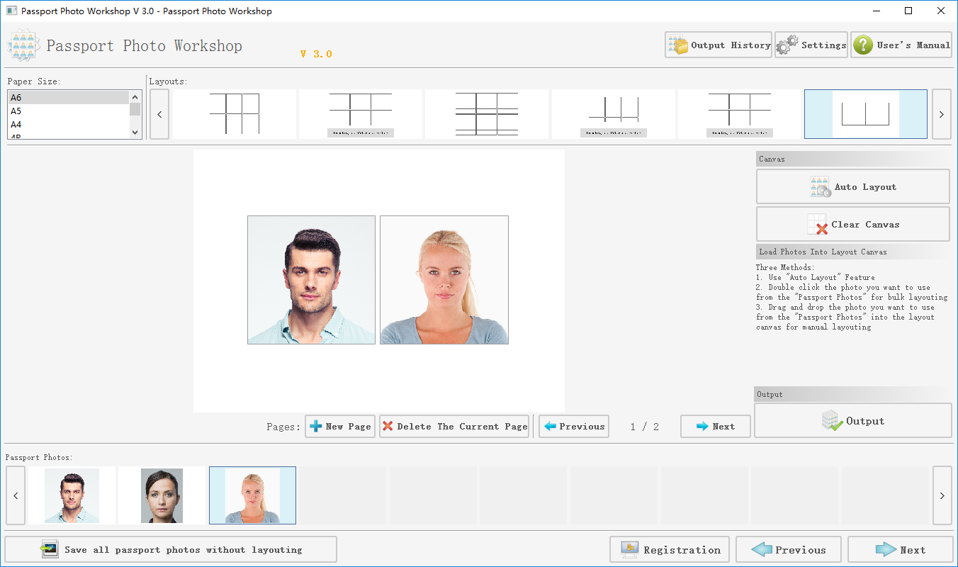 Passport Photo Printing Software Pro